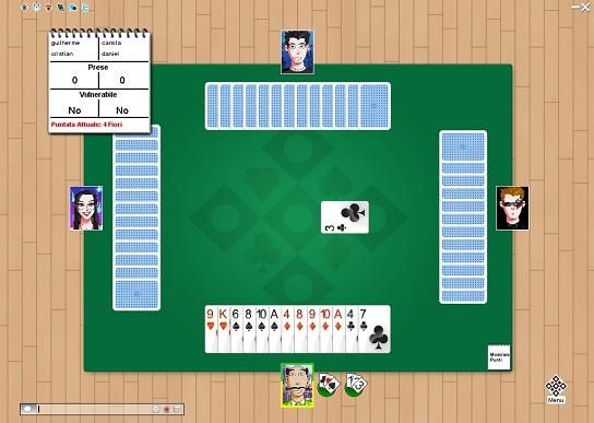 Giocare a bridge contro il computer