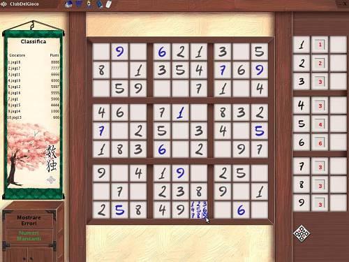 Sudoku Online ClubDelGioco